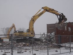 "Demolition of the 'Old"" Springcreek building!"