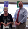 2017 - Susan Bollinger -  Support Staff of the Year for Piqua Junior High