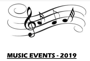 Music Events 2019!
