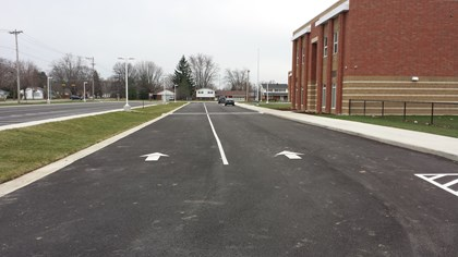 New school traffic pattern