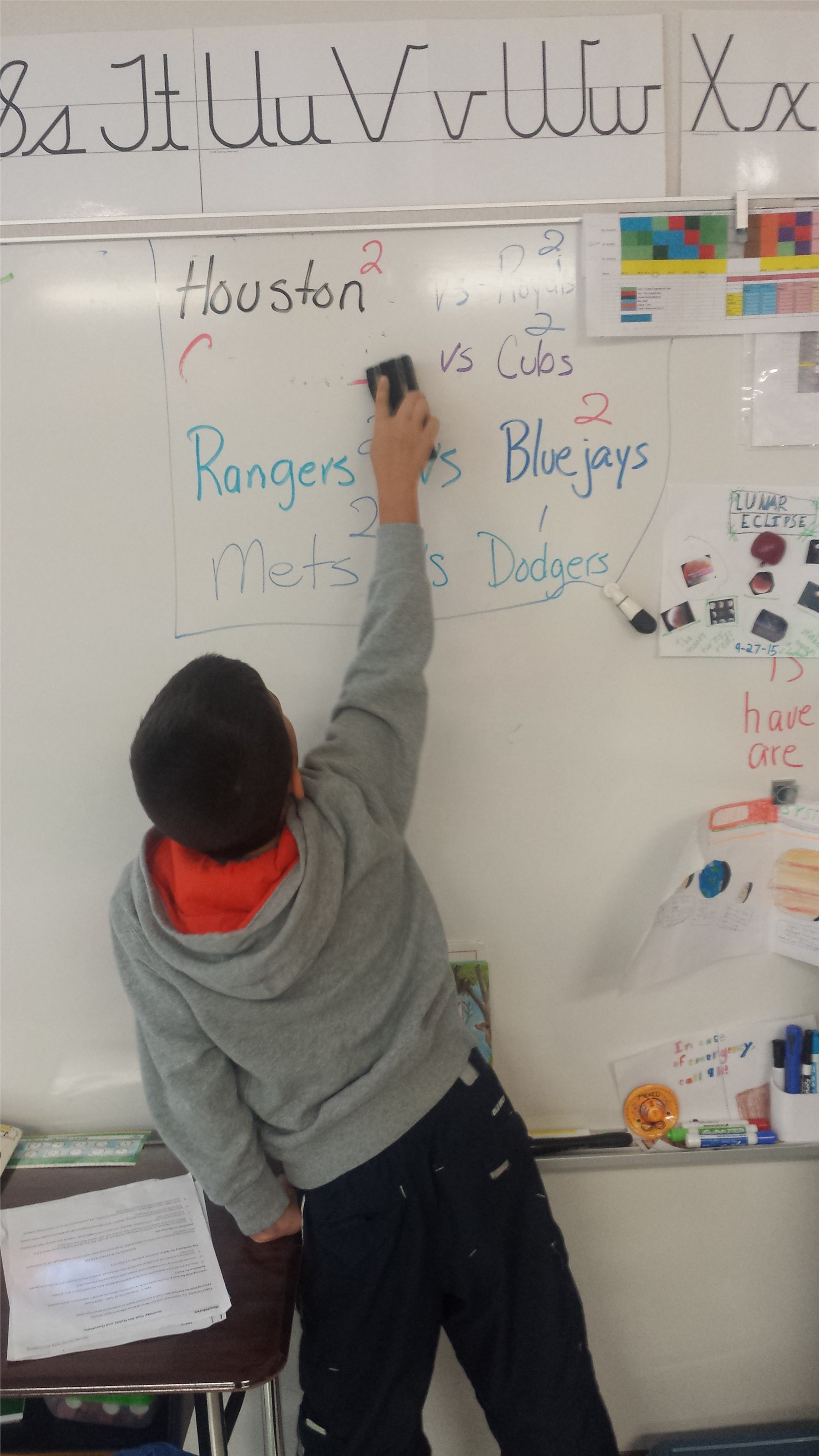 Working on the white board