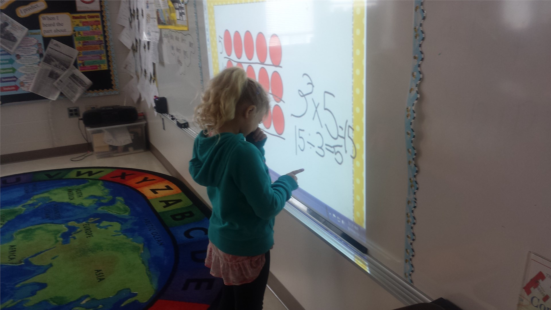 Working on the Smartboard
