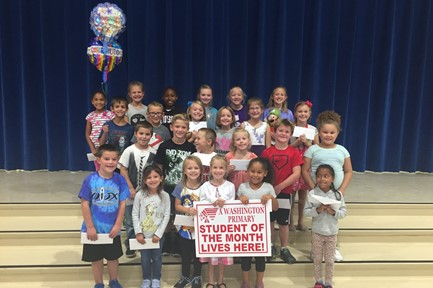 Washington Primary October Students of the Month