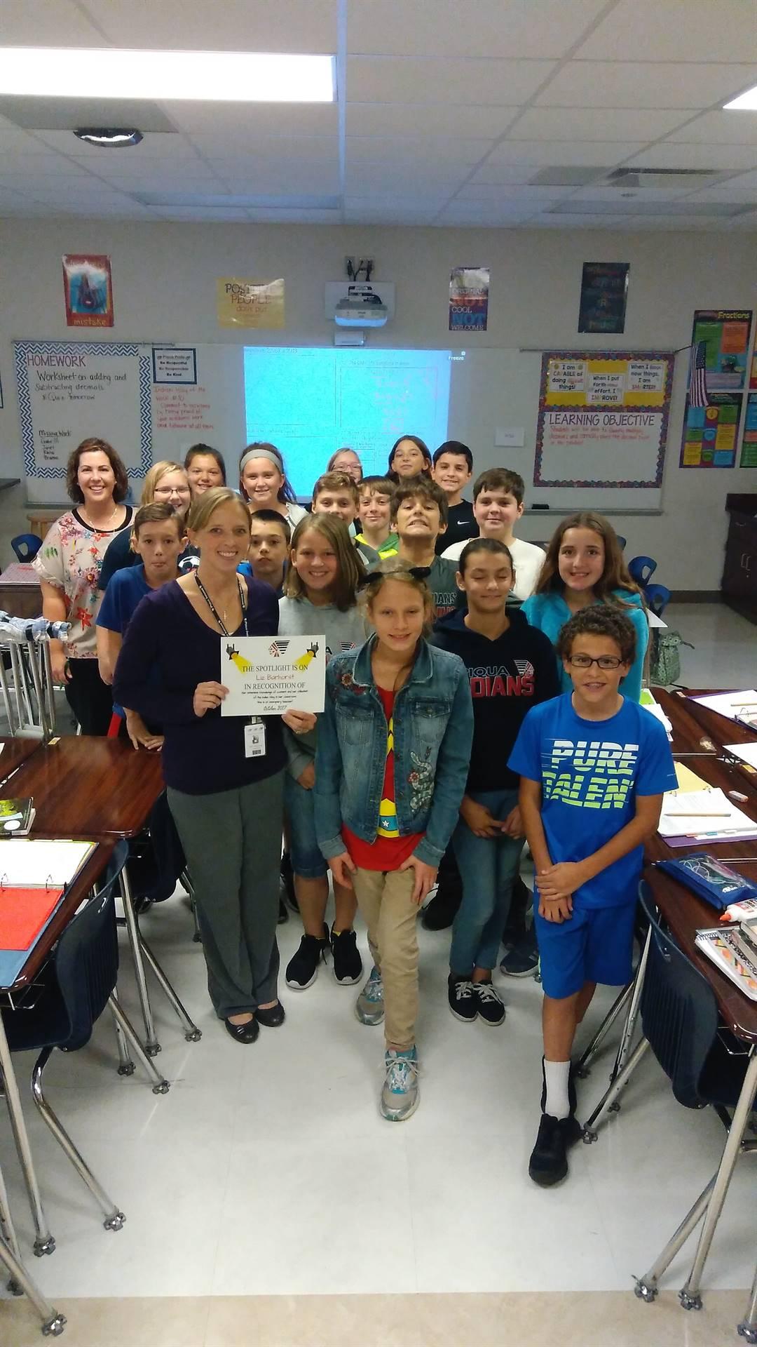 Mrs. Barhorst-October Staff Spotlight