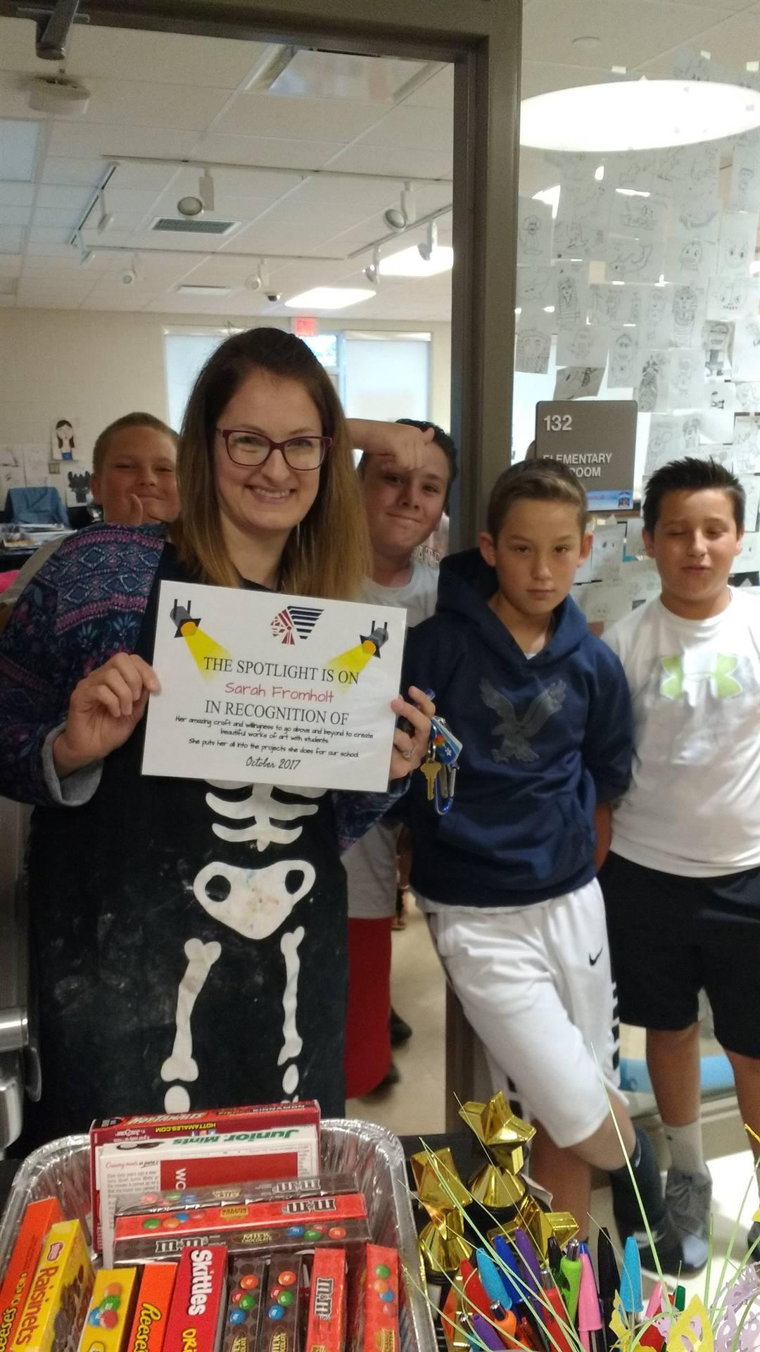 Mrs. Fromholt-October Staff Spotlight