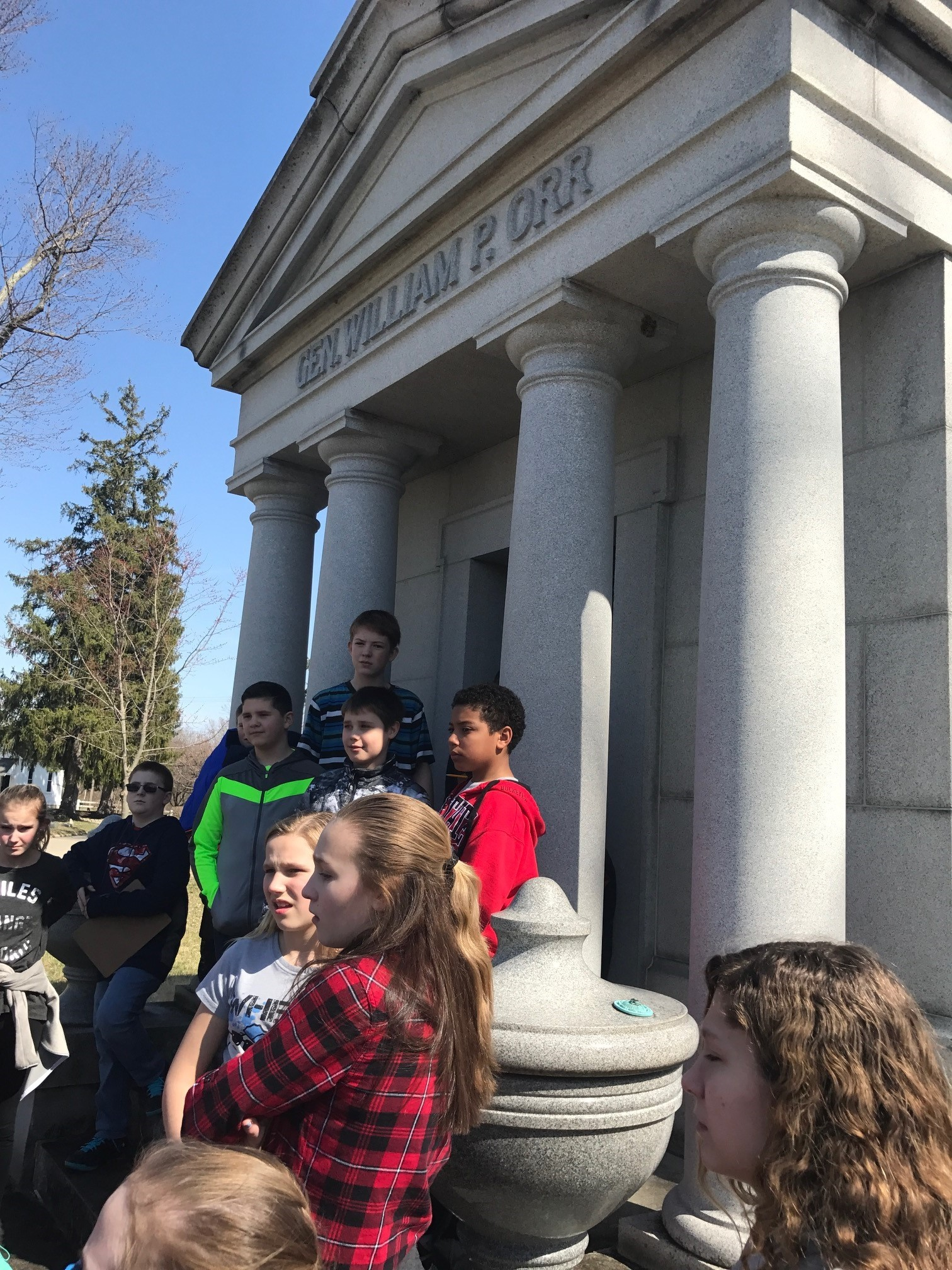 6th Grade trip to Forrest Hill Cemetary