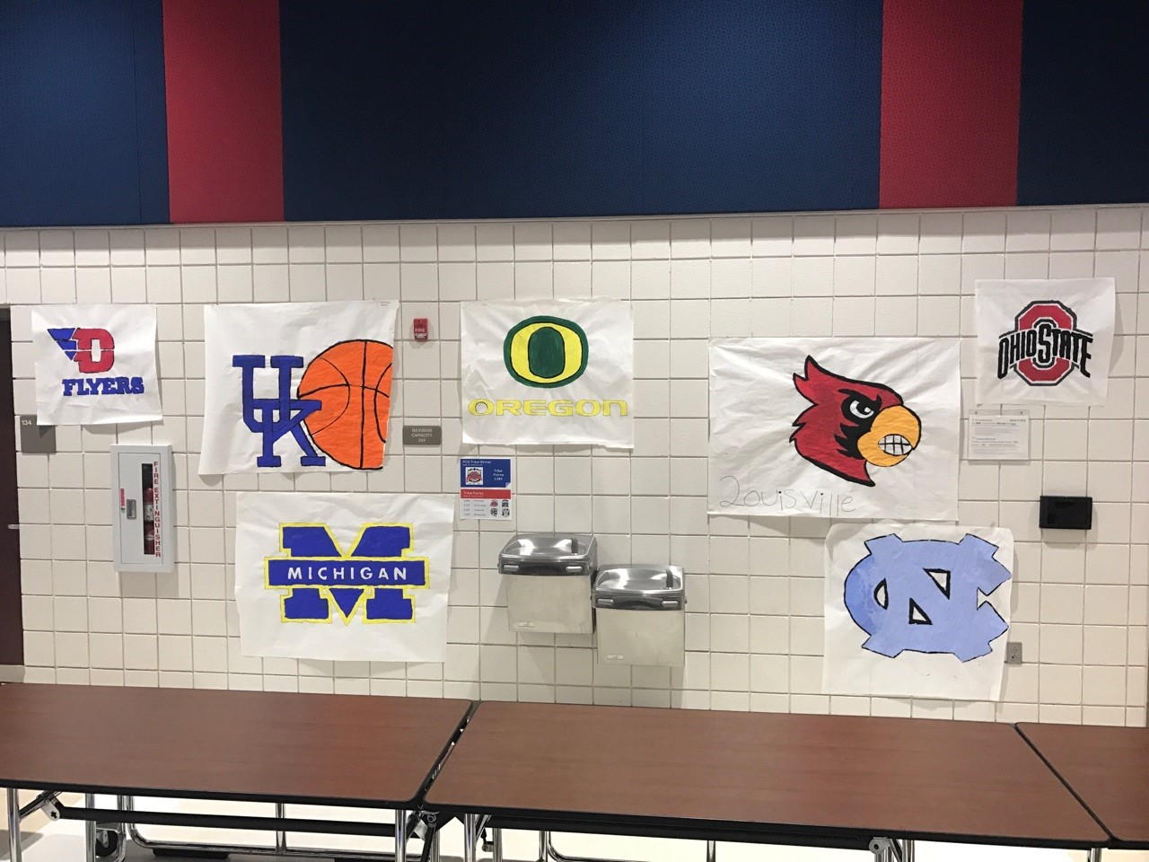 March Madness Artwork from 6th Grade