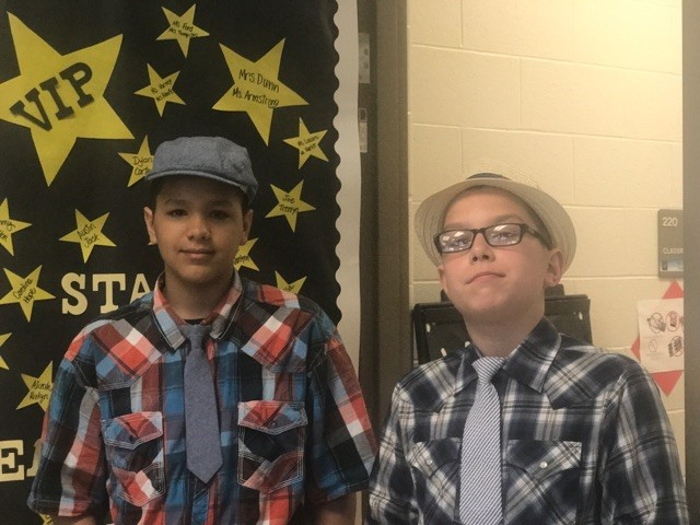 Students dressed up