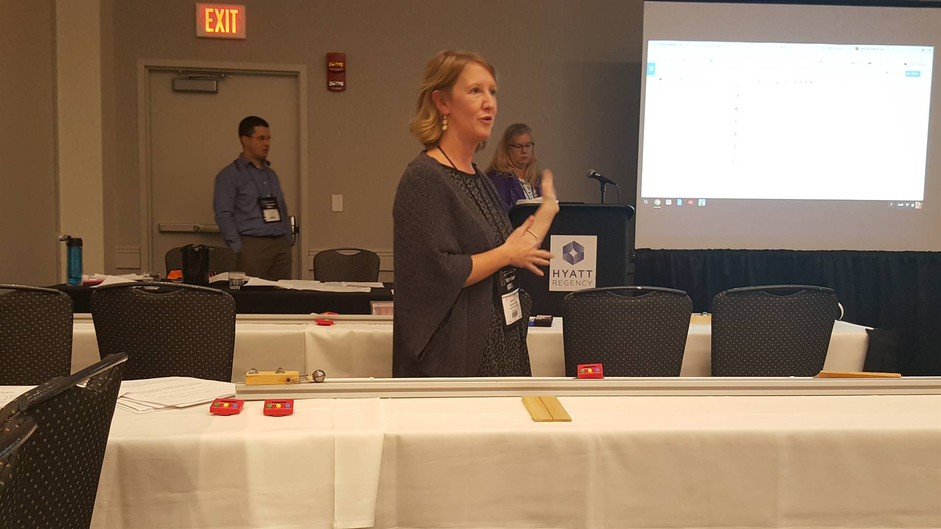 Jen Everett Presenting at a Conference