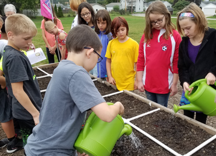PCIS  Garden Tribe, working with Piqua Master Gardeners