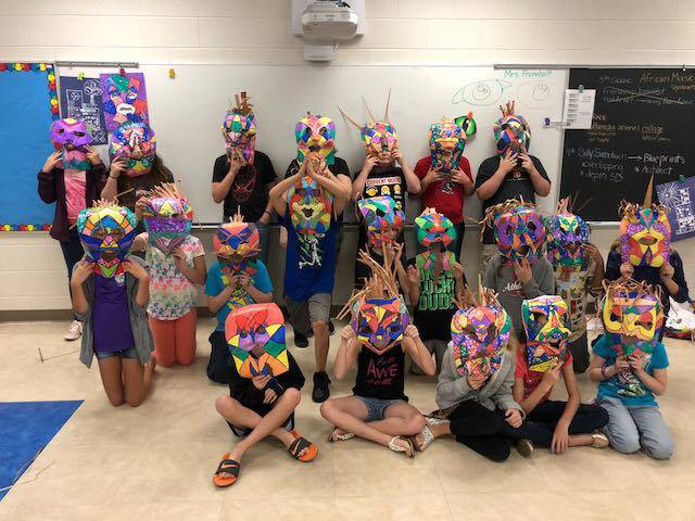 5th grade African masks