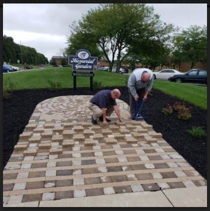 install of memorial garden