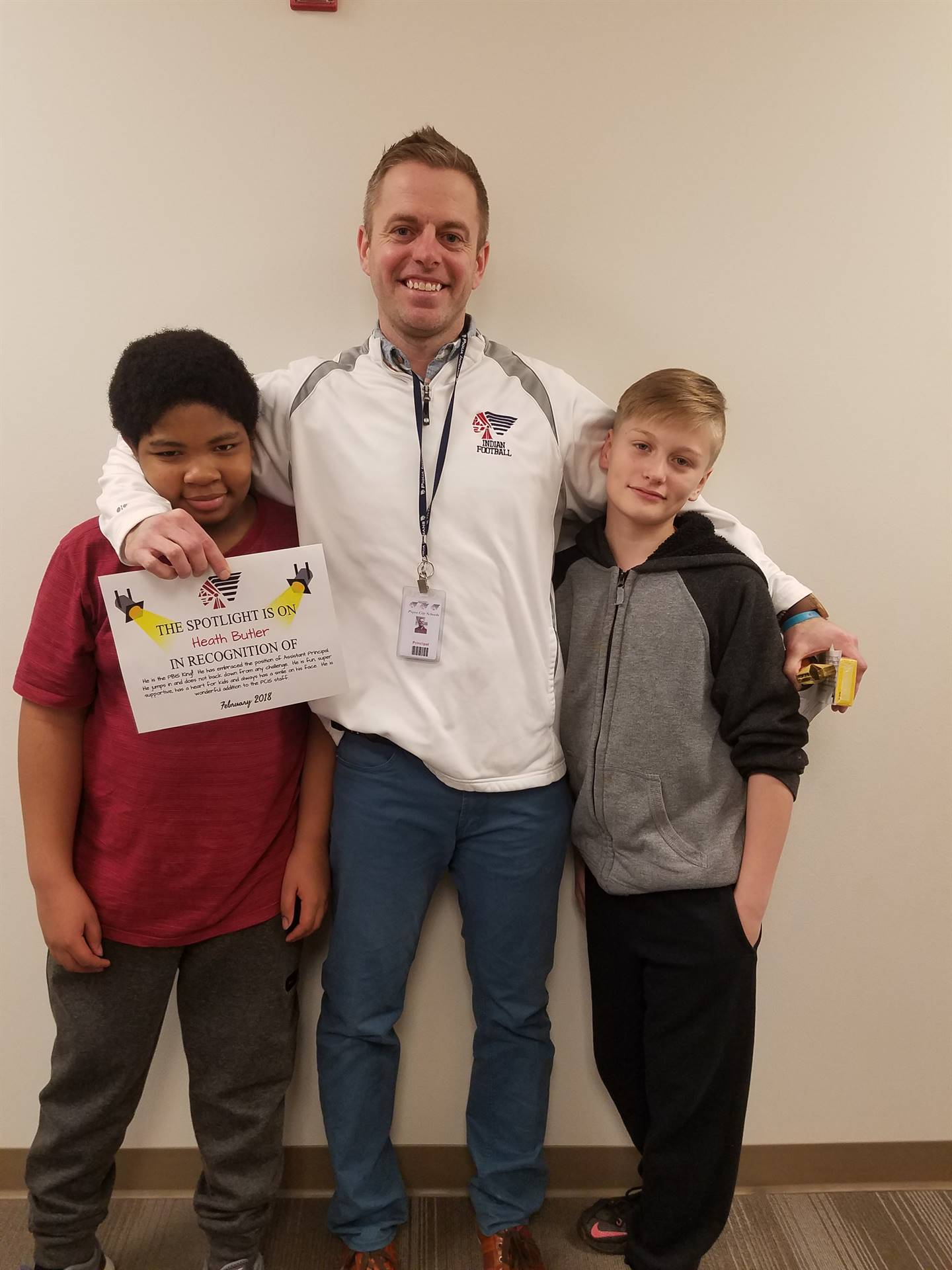 Mr. Butler with students