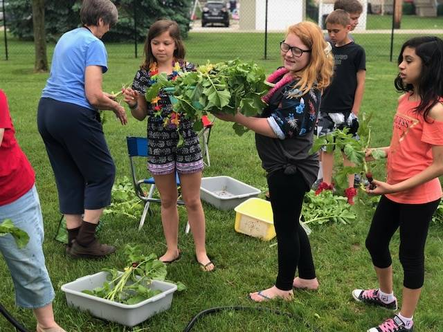 5th Grade Garden Harvest
