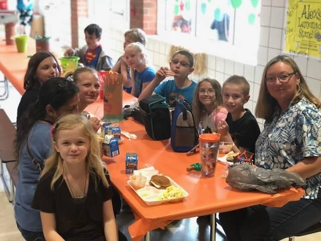Mrs. Patton's group enjoying formal dining