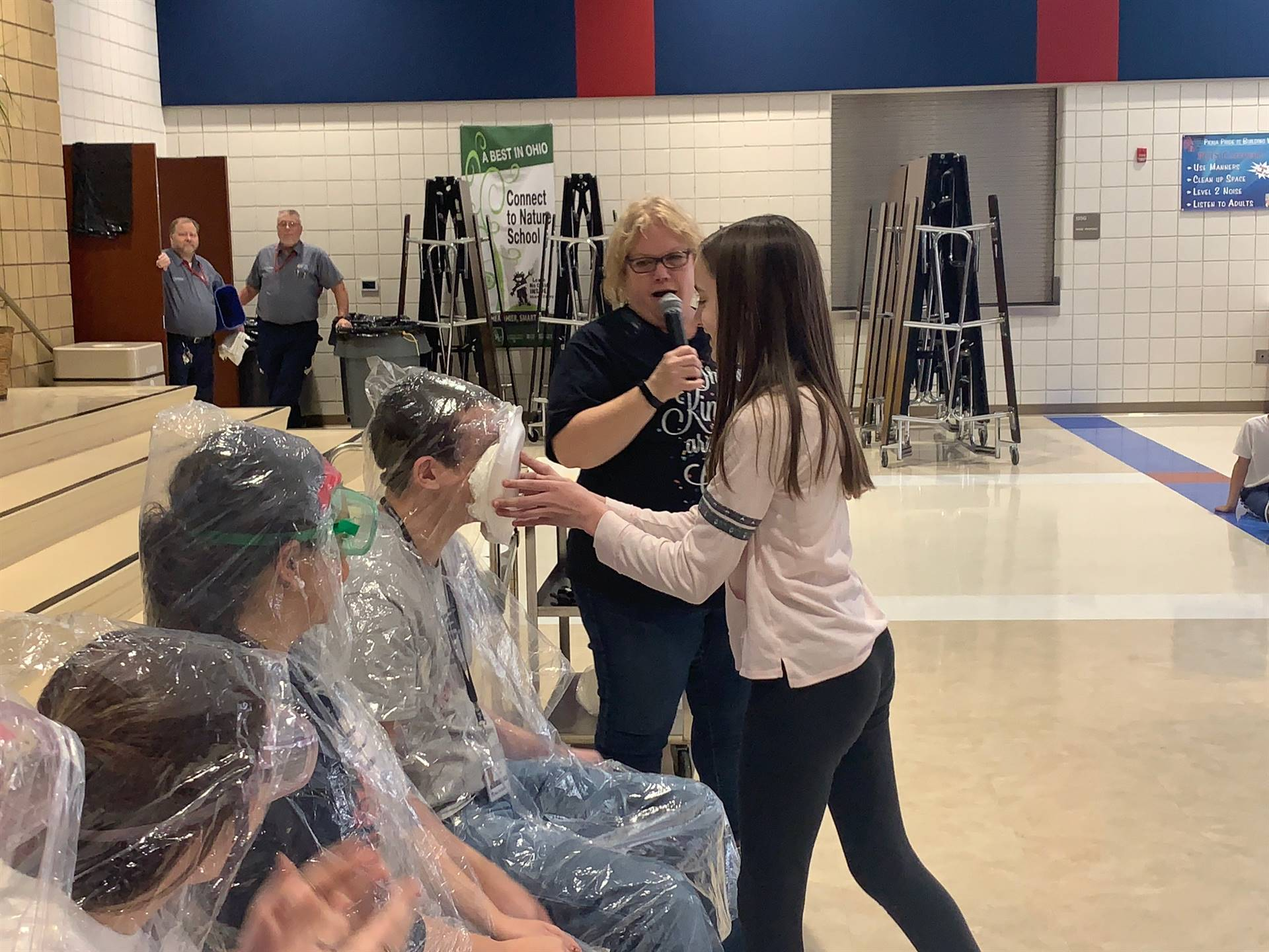 Mr. Baltes gets a pie in the face!