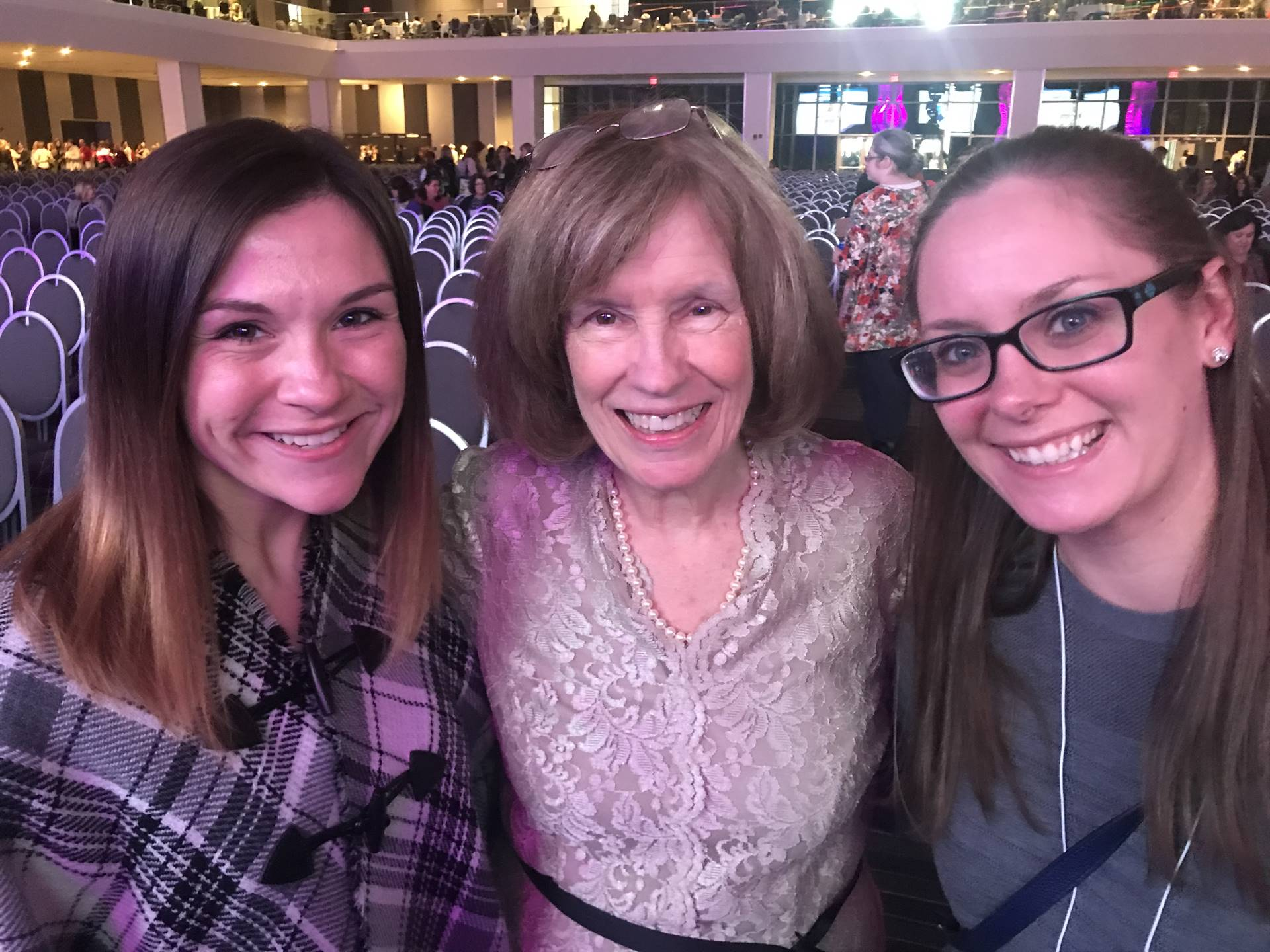 Ms. Gilbride and Mrs. Meinders with Lucy Calkins