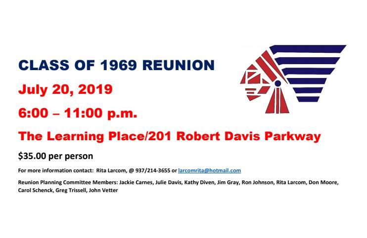 Class 1969 reunion info